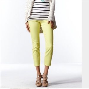 Cabi Yellow Crop Jeans Size 4